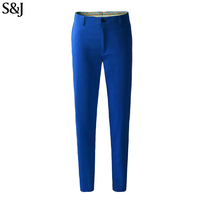 High Quality Golf Trousers Men Long Blue Pants Casual