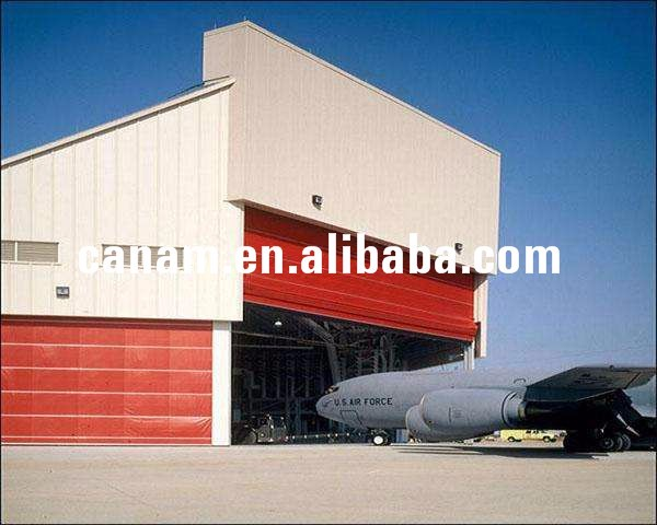 Large Span Steel Frame Airplane Hangar with Flexible Lifting Door