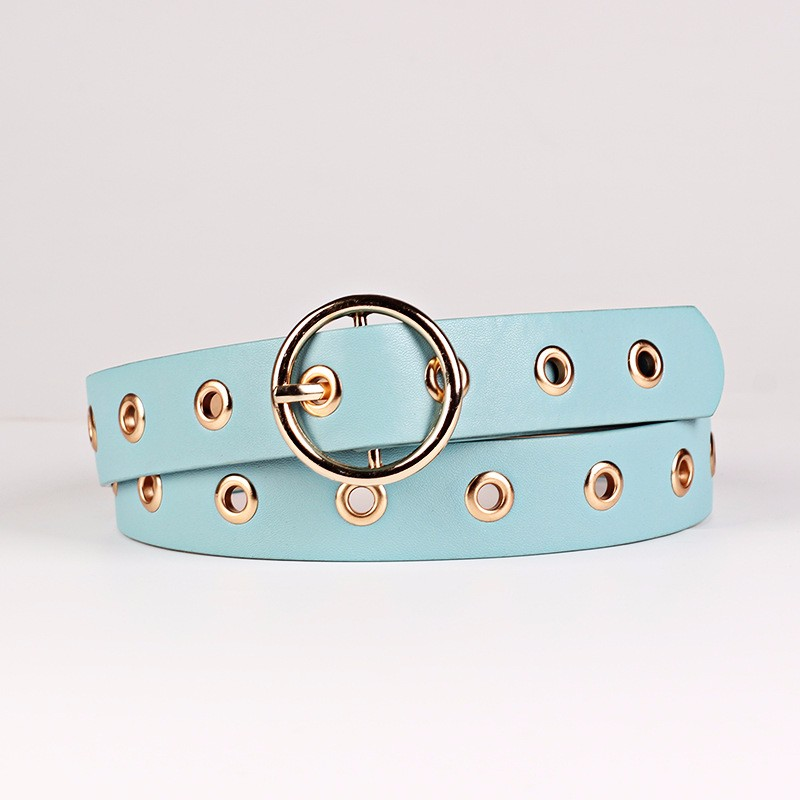 New popular colorful size customized fashion ladies leather belt wholesale