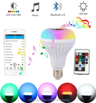 Wireless Bulb Color Led 12w Music bluetooth Changing rgb Bulb Rgb Light Play Smart Bluetooth Speaker Buy Lamp LampRemote MSUzpGqV
