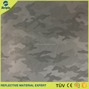 polyester backing Printing reflective fabric
