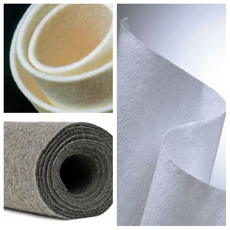 Recycle material needle punched nonwoven fabric felt in roll  acupuncture cotton  nonwoven