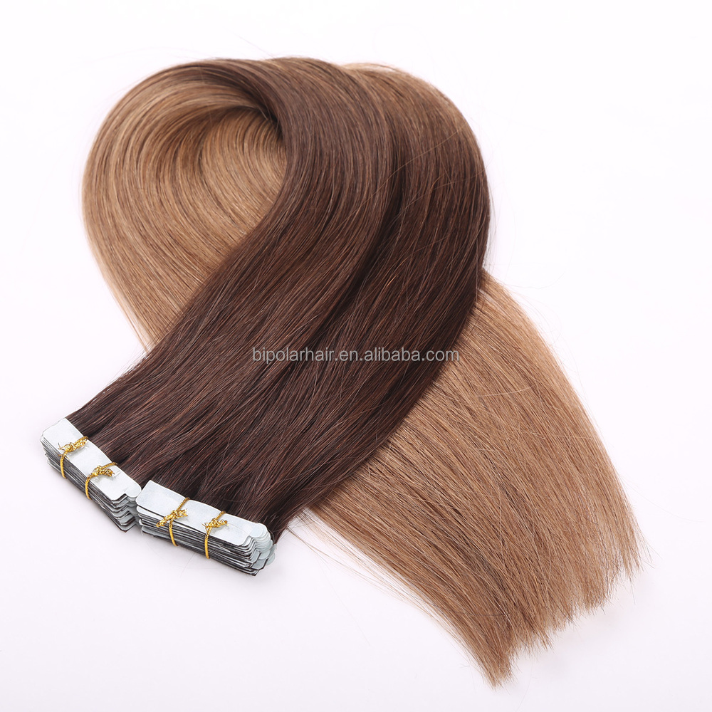 2015 Best Selling Products in North America High Quality Wholsale Ombre Color Brazilian Remy Human Tape Hair