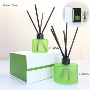 Round Frosted Surface Reed Diffuser And Candle Holder With Cap