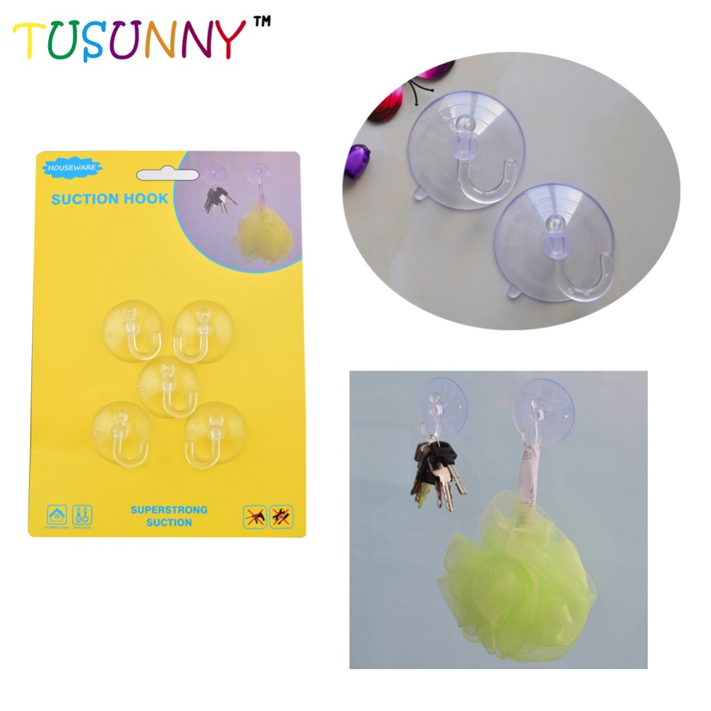 High quality transparent pro-environment pvc suction cup hook for wall