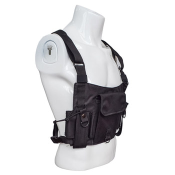 Chest Pocket Harness Bag Holster Holder Vest Rig For Two Way Radio