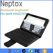 Portable PU Leather Case With Bluetooth Keyboard For Ipad mini2 3 4 7.9 inch