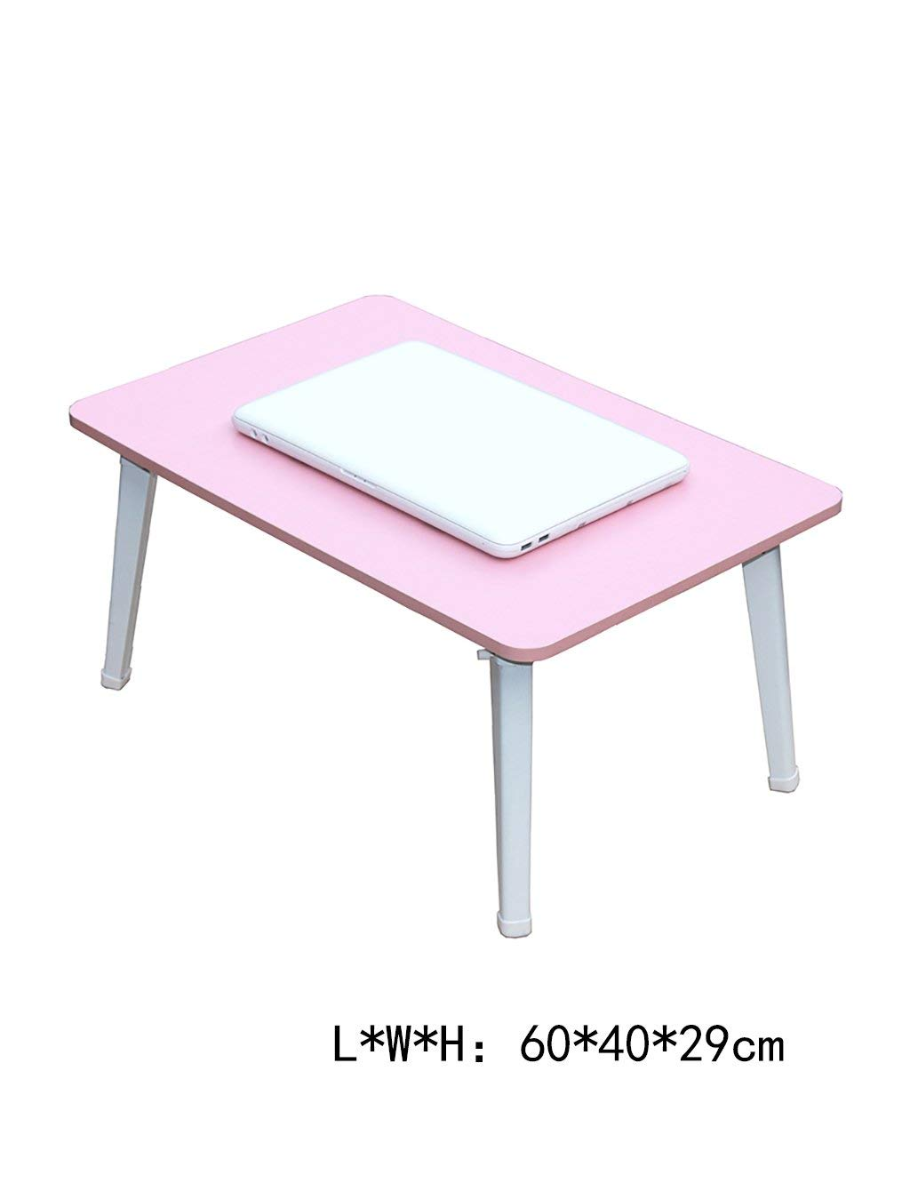 HAIPENG Laptop Desk Folding Table Lazy Dormitory Desk Study Tables (two Sizes Optional) (Size : LWH:604029cm)