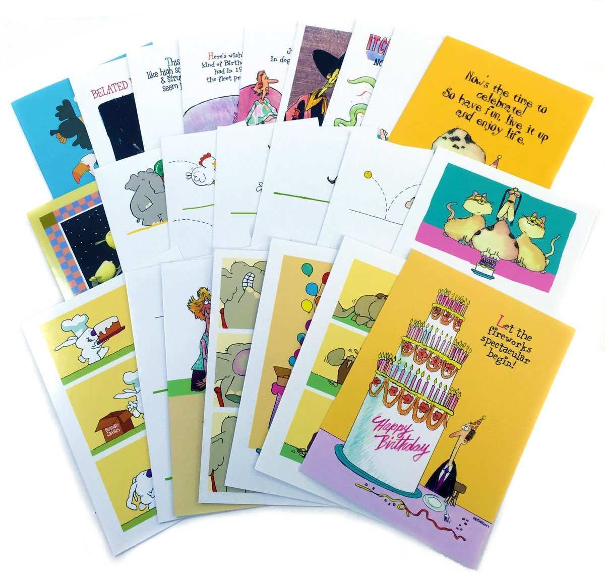 Buy Birthday Card Assorted Humorous Pack Of 24 Cards Amp 25 Envelopes
