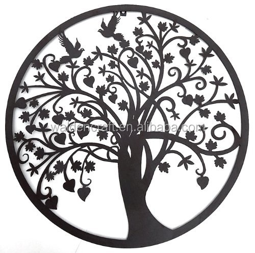 Beautiful Tree of Life Metal Wall Hanging Sculptures Garden Art 24 Inches