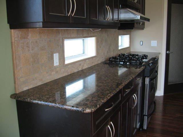 A bancada da cozinha préfabricada, pedra da bancada com armário de madeiraT # Bancada De Cozinha Em Pedra Sabao