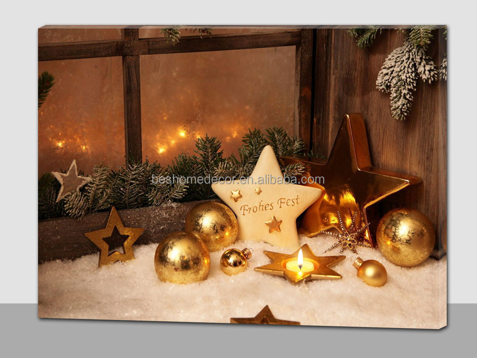 Holiday start fest led canvas <strong>picture</strong> ,led canvas wall art