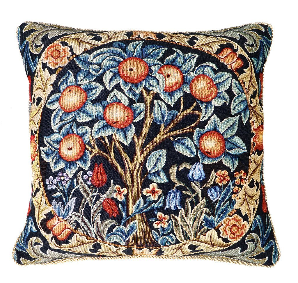 Get Quotations Throw Pillows Decorative Couch Needlepoint Wm Morris Design W Insert 18