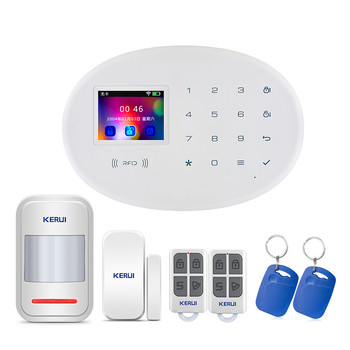 2019 NEW Kerui 2.4 inch Touch Pad Wireless Smart WIFI GSM Alarm Kit With RFID function