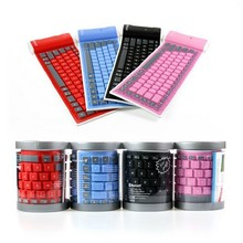 87 Keys Universal Waterproof Bluetooth Wireless Flexible Roll Up Keyboard for Mobile Phone Tablets PC