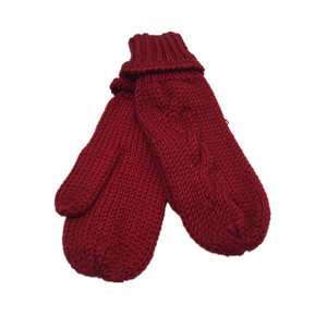 FASHION Winter Thick Children's Knit Acrylic Mitten Gloves With fleece Liner