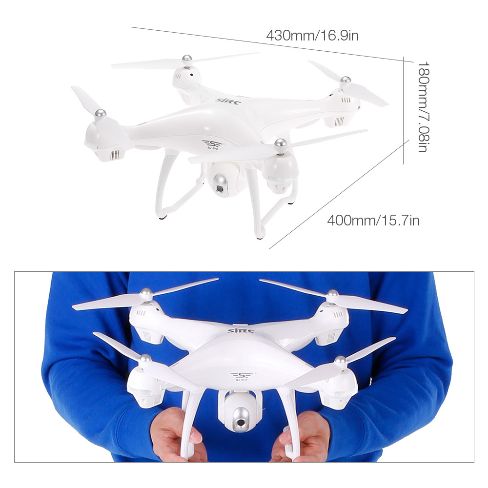 2018 New Arrival SJ R/C S70W GPS follow me drone 1080P HD Camera Wifi FPV Drone Quadcopter