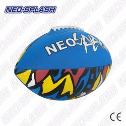 Chinese Manufacture Blue Square American Football Neoprene Beach Ball