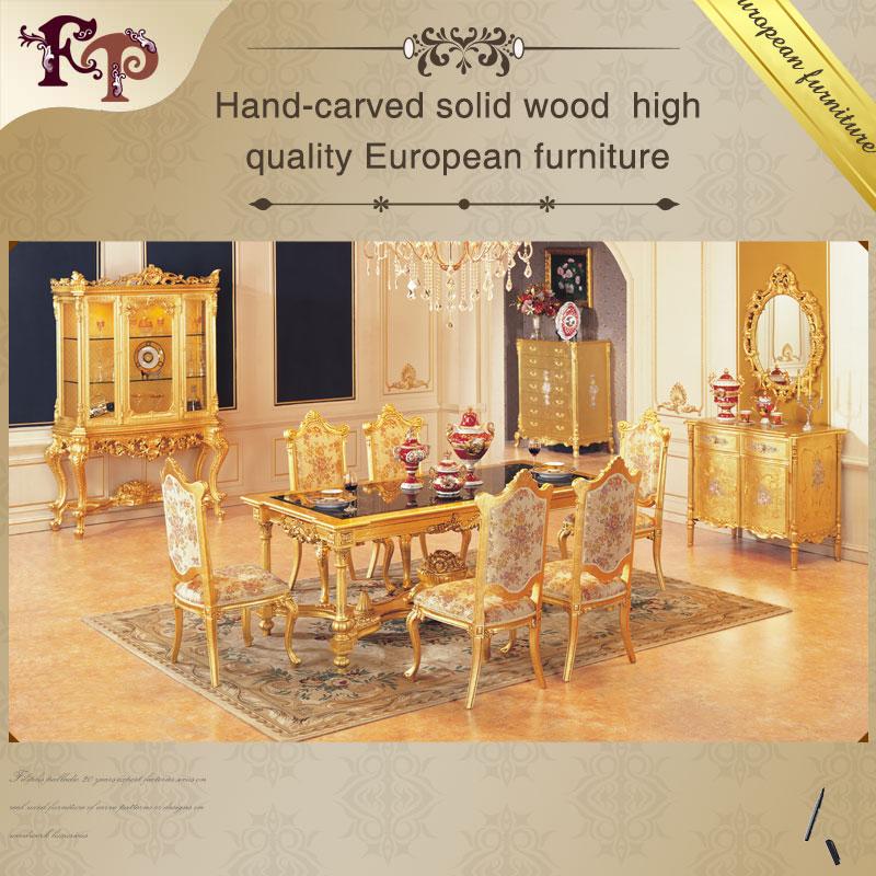 Antieke barok europese meubelen luxe eetkamer meubels eettafel eetkamer sets product id - Luxe eetkamer ...