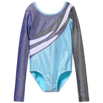 Long Sleeves Dance Competition Children Artistic Gymnastics Leotards For Dancing