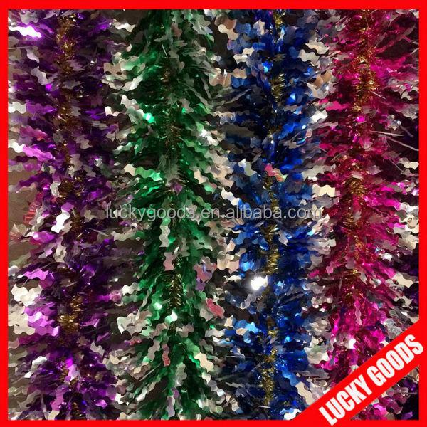 Christmas Metallic Foil Garlands Rose Gold 3-Piece 90-Inch