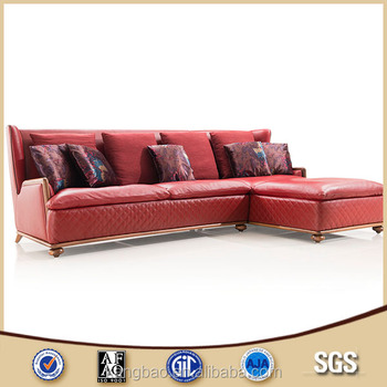 Lovely 2016 Kangbao Living Room Sofa Sectional Sofa Solid Wood Frame Leather Sofa