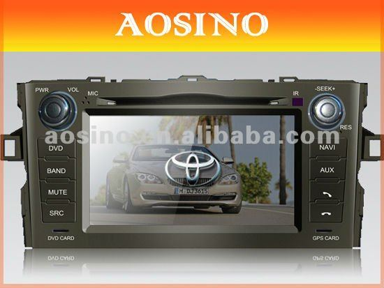 Aosino double din special for TOYOTA AURIS (2007-2011) car dvd player / car radio / car audio with GPS navigation