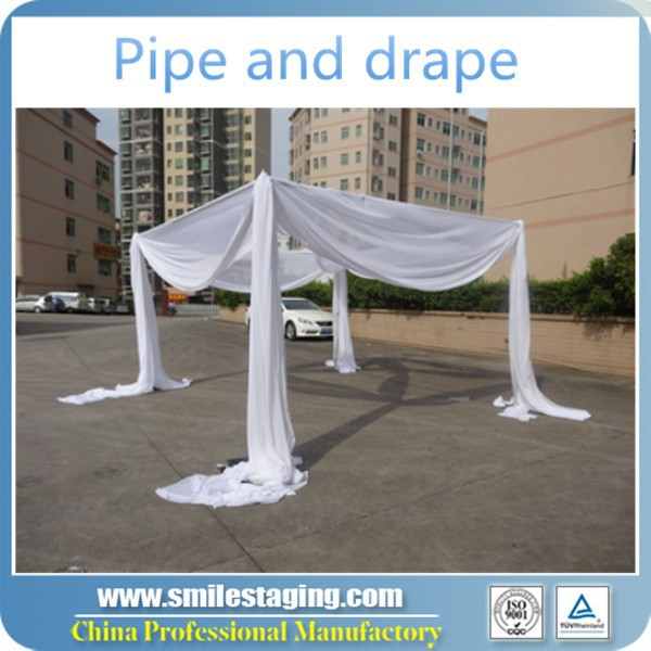 event wedding aluminum backdrop stand pipe drape portable curtain stand used seamless steel pipe for sale