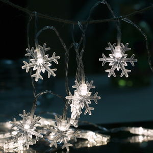 220V Party Home Wedding Garden Christmas Tree Snow Flakes Fairy Led String Light