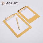 Maxery Muti-function Stainless Steel Brass Gold Metal Clip Board a4