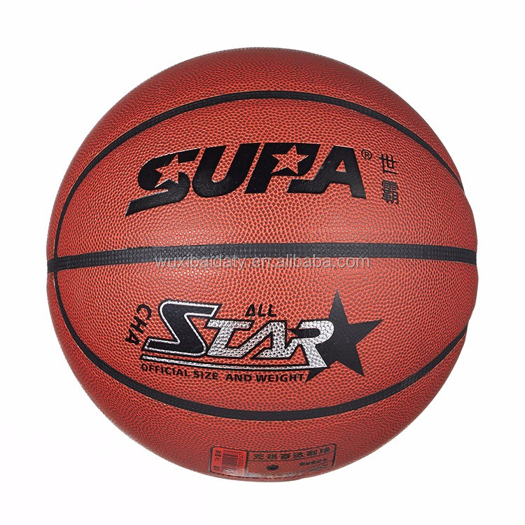 affordable PVC lamination glossy basketball with gifts