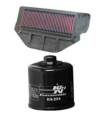 K&N Motorcycle Air Filter + Oil Filter Combo 2000 2001 Honda CBR929RR HA-9200 + KN-204
