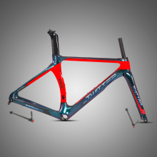 Made in China 700C schijfrem grind aero t800 18 K carbon racefiets frame