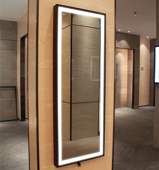 Large Full Length Led Bathroom Mirrors With Black Frame