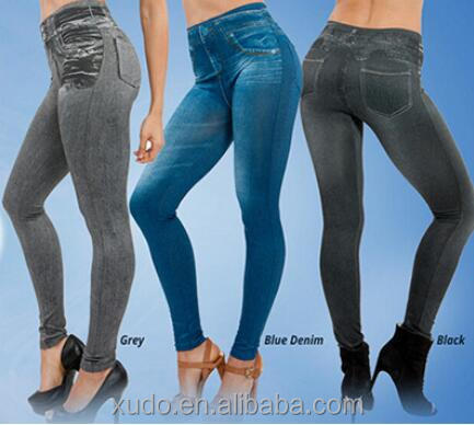Clearance!!!Hot Sale European And American TV Shipping Copy Jean Leggins Pants For <strong>Women</strong> Casual
