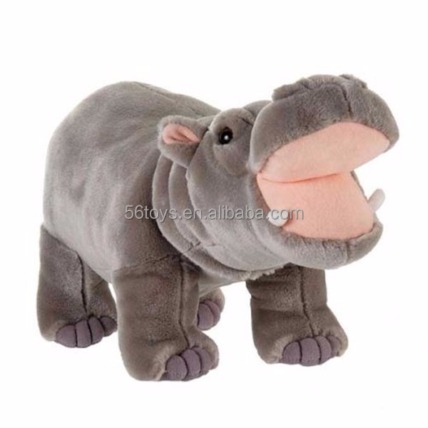 promotional cute custom singing hippo plush toy