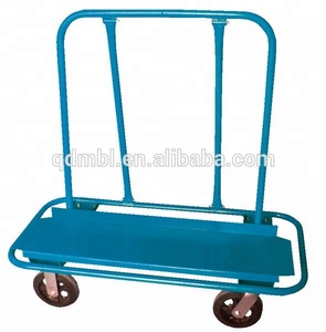 Warehouse Drywall Panel Moving Cart with 4 Wheels