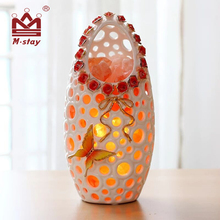 Clean air salt lamp ceramic series himalayan floor salt lamp for wedding gifts New Year gift Valentine 's Day gifts