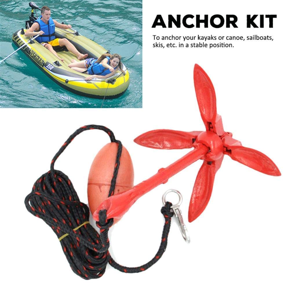 1.5lb Folding Grappling Style Galvanized Marine Anchor Pwc Boat Kayak Canoe Raft Accessories Parts & Accessories