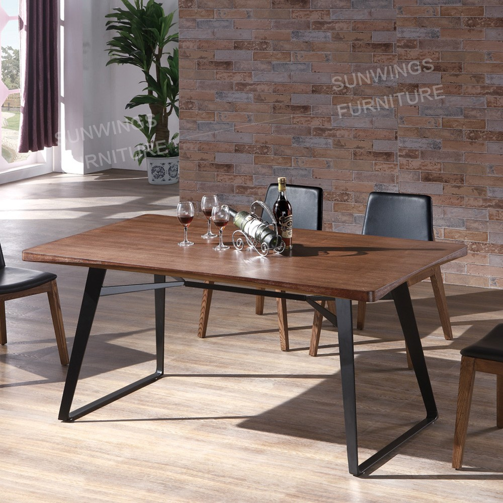 Malaysia furniture factory walnut wood modern dining table buy metal table legmalaysia furniture factorydining table product on alibaba com