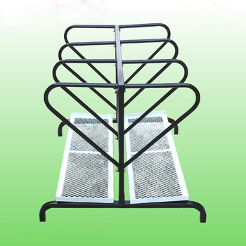 Metal wire 2 side display golf bag rack / golf course use display stand