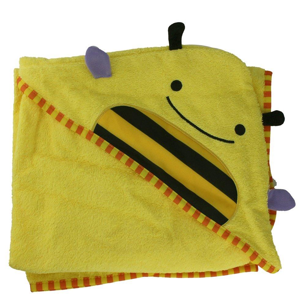 Cartoon Baby Towels Bathrobe Infant Bath Towels Cute Designs Hooded Animal Modeling (Yellow Bee)