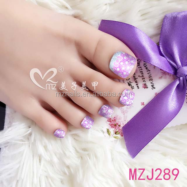 2017 hot selling new design fashion nails art for toe