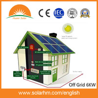 6KW/6000W Off grid solar home system for residential solar energy