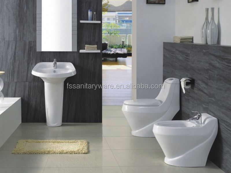 Modern Bathroom Sanitary WareBathroom Ceramic SuitesShower Toilet Unit