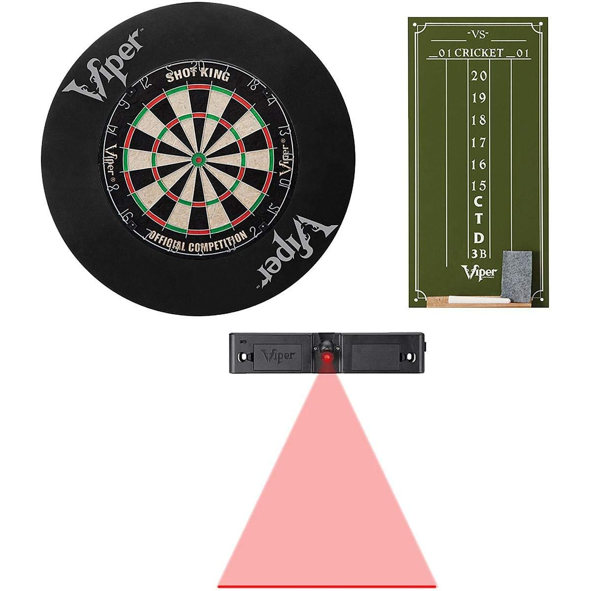 Viper Shot King SISAL Dartboard, Cricket Small Chalk Scoreboard, Defender Backboard