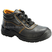 NMSAFETY black cow split leather safety work shoes