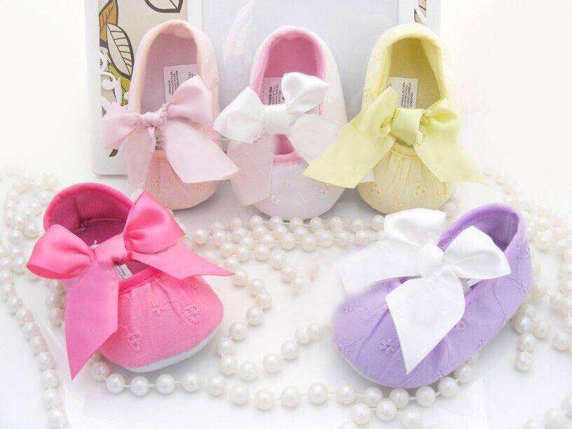 Newborn Baby girls shoes bebe First walkers princess soft sole leather Shoes white and pink 10cm