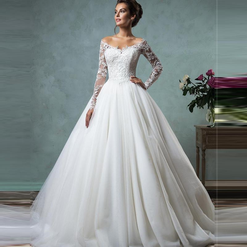Sleeve Wedding Gown: Vestido De Novia 2016 Cheap Lace Wedding Dresses Long