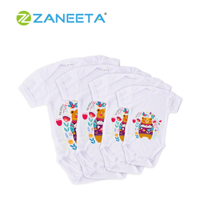 Sublimation Customized LOGO Polyester Toddler Baby Grow Baby Jumpsuit Baby Clothes with Sleeve